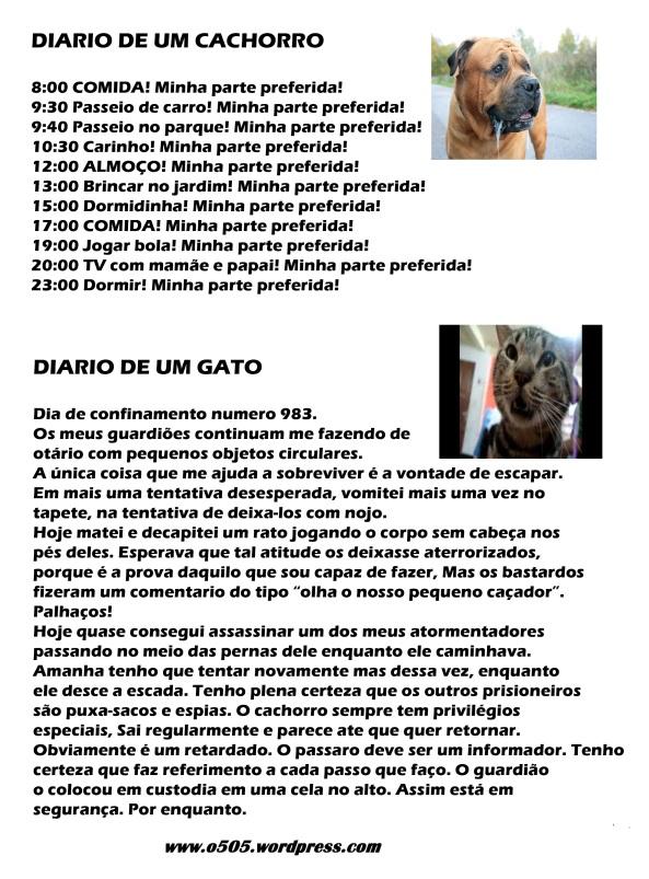 O Diário do cão e o diário do gato